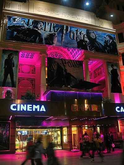 영국 런던의 영화관