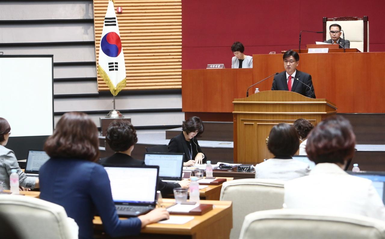 제262회 광주시의회 제1차 정례회 방세환 예결위원장