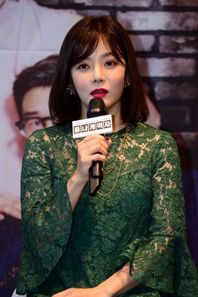 SBS 새 예능프로그램 <폼나게 먹자> 기자간담회에 참석한 배우 채림.