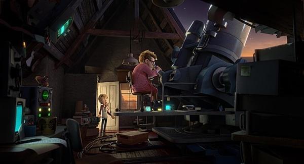 영화 <루이스>의 아빠 '아민'은 UFO와 외계인 연구에 빠져 아들에게 무관심하다.