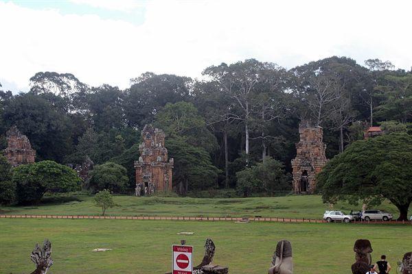 앙코르톰 코끼리테라스 파수대 모습