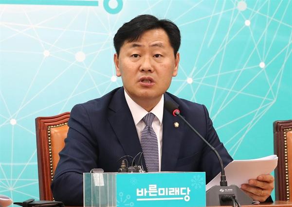 정기국회 관련해 발언하는 김관영 바른미래당 김관영 원내대표가 9일 오전 국회에서 정기국회 관련 기자간담회을 열고 발언하고 있다.