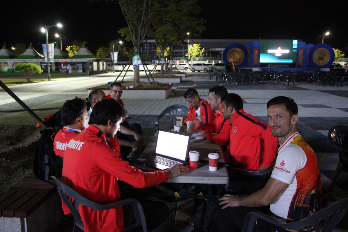 대회에 참가한 터키선수단