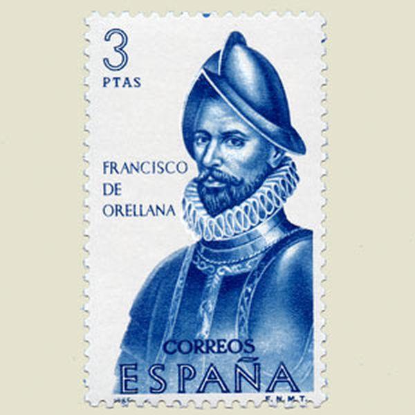 기념우표 속 프란시스코 데 오레야나의 초상