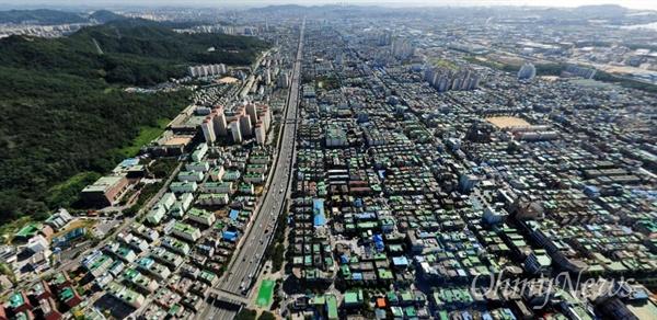 올해 하반기 정부의 도시재생 뉴딜사업 선정된 인천시 석남역 주변 모습.