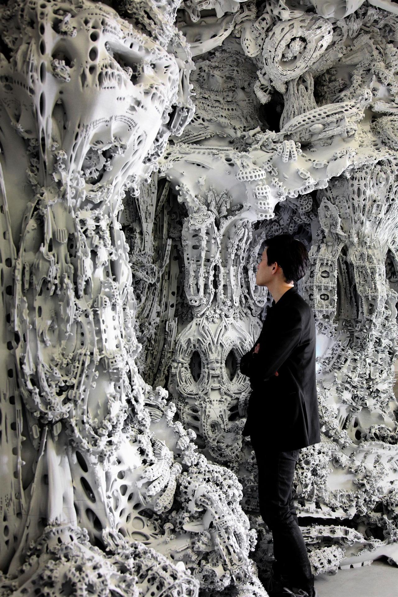 독일의 건축가, 마이클 한스마이어가 알고리즘으로 만든 세상에서 가장 복잡한 건축 구조물 '디지털 그로테스크'.
