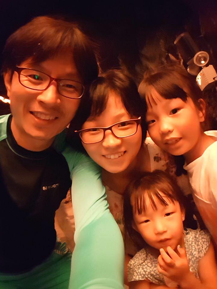 전윤환 대표의 아내와 아이들.