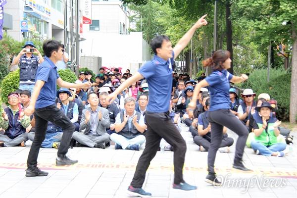 민주노총 경남본부는 9월 12일 낮 12시 더불어민주당 경남도당 앞에서 '차별철폐 집회'를 열었다.