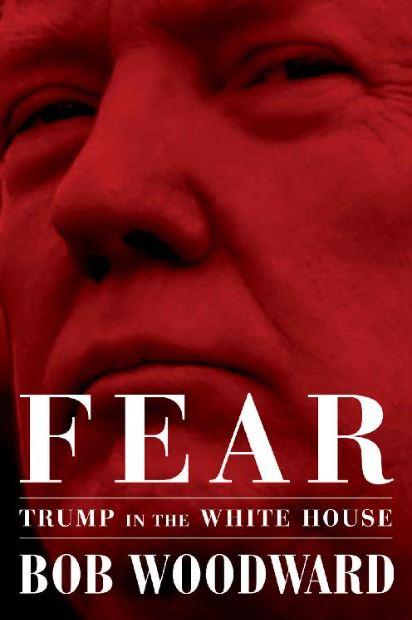 밥 우드워드의 '공포 : 백악관의 트럼프' 표지.