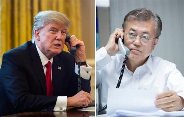 문재인 대통령과 트럼프 대통령(자료사진)