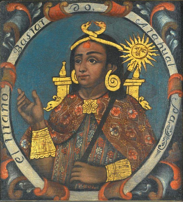 잉카제국의 황제, 아타우알파의 초상