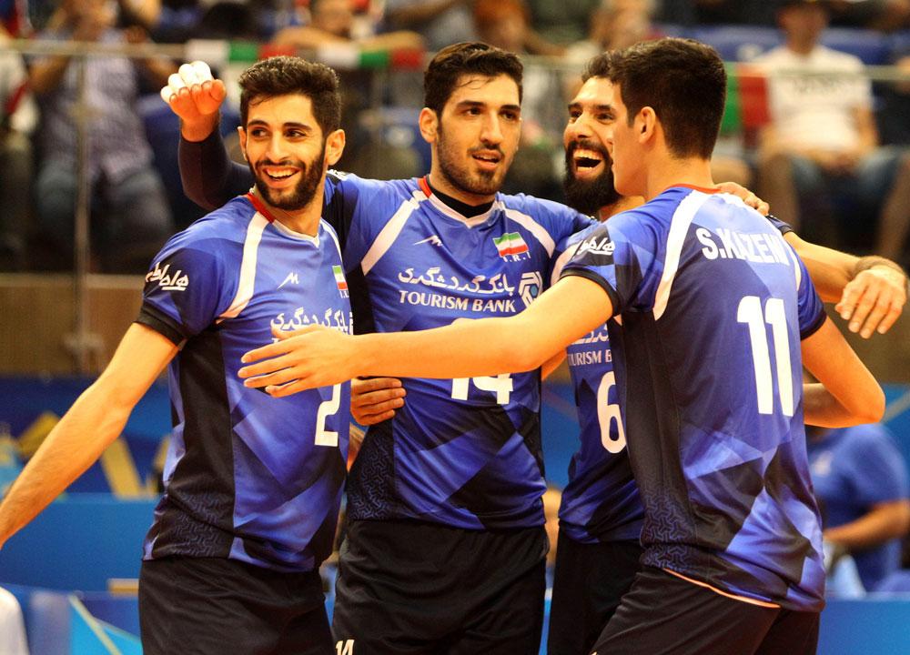이란 남자배구 대표팀, 2018 세계선수권 경기 모습 (2018.9.13)