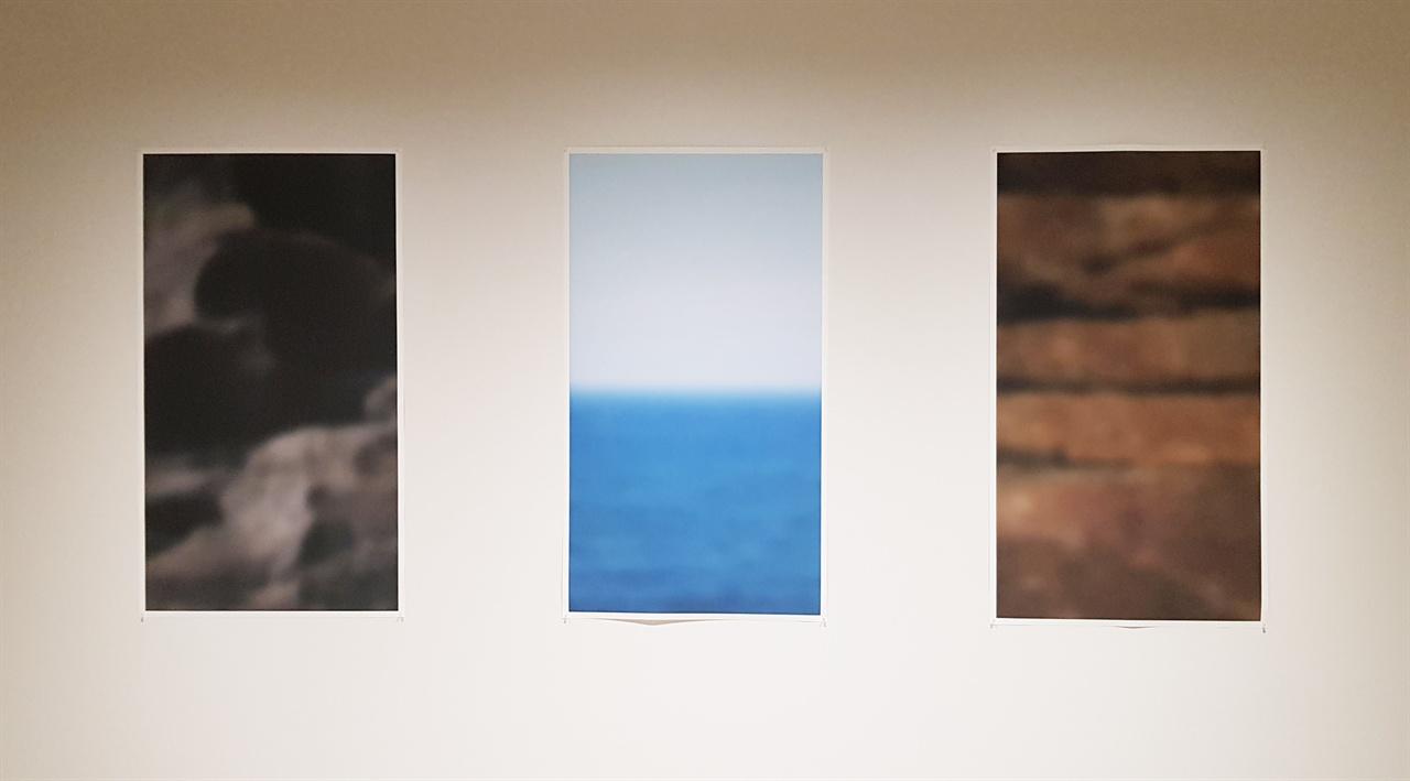 이상필, '편집된 장면', 종이에 잉크젯 프린트 (총 3점)