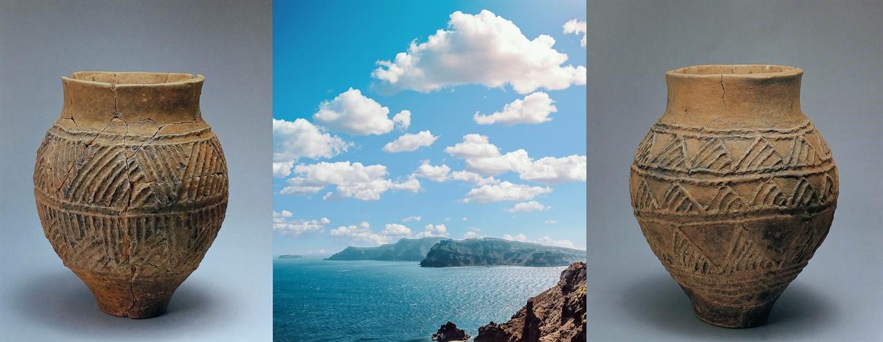 신석기인의 구름무늬 '삼각형' 세계 신석기인이 구름을 왜 삼각형으로 그렸는지는 두 측면에서 짐작할 수 있다. 하나는 어떤 구상(삼각형 꼴의 움집, 빗물에 젖은 나뭇잎)에서 왔을 것이다. 그들은 구름을 비(雨·水)를 품고 있는 집으로 보았다. 또 하나는 디자인 측면에서 볼 수 있을 것이다. 전체적으로 원에 가까운 그릇에 다시 타원형 구름을 새기는 것은 어울리지 않기 때문이다. 그래서 각진 삼각형 꼴 구름무늬를 새겼다고 볼 수 있다.