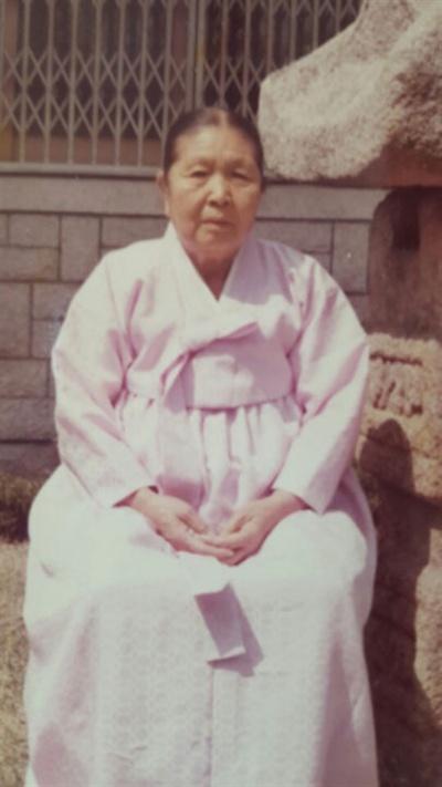 곽영선 지사, 70대 후반 모습.