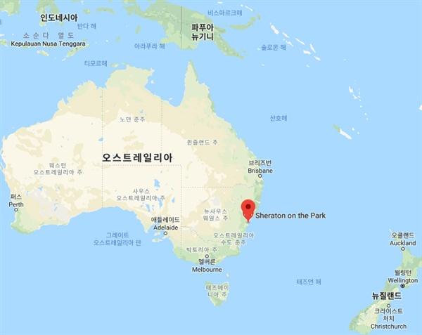 시드니는 호주 대륙의 동남쪽에 있다.