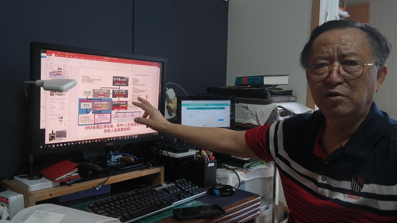 가짜 독립운동가 김정수 일가의 실체를 밝혀낸 김세걸씨