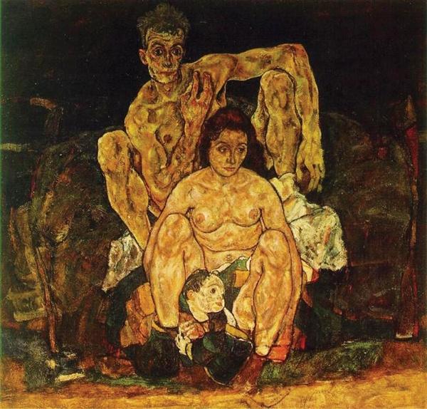 가족(에곤실레,1918,빈 오스트리아 미술관)