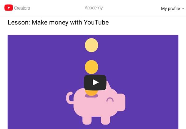 유튜브는 공간만 제공하는 중립적 서비스가 아니다. 사람들이 많이 볼만한 자극적인 영상을 적극 권하고 자동으로 트는 방식으로 막대한 수익을 올린다. 사진은 유투버로 돈을 버는 방법을 교육하는 영상.