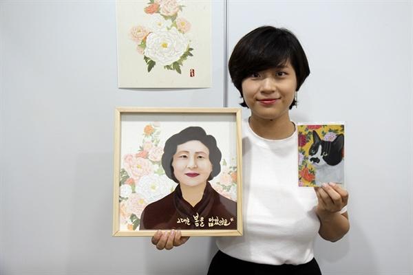 <한국적인 디자인의 대중화를 꿈꾸는 청년 디자이너 김명순 대표를 지난 18일 만났다>