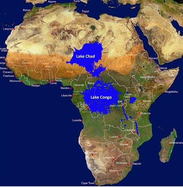 아프리카 거대 호수 상상도
