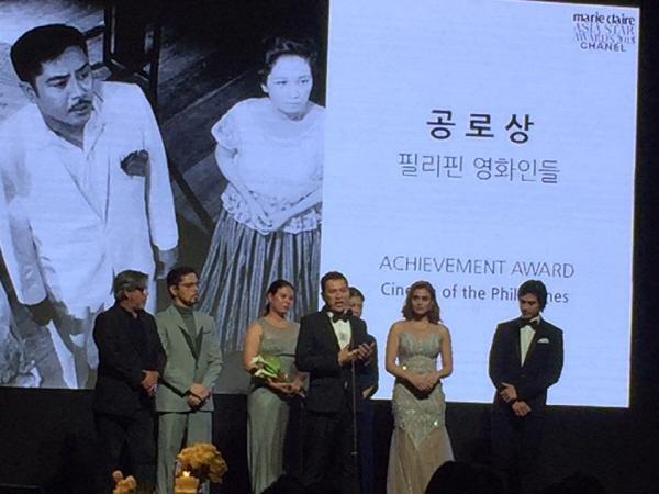 마리끌레르 아시아스타어워즈,  '공로상'을 수상한 필리핀 영화인들