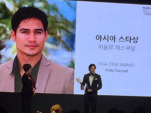 '아시아 스타상' 수상,  주지훈과 파올로 파스쿠알