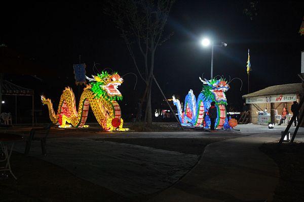 경주 신라문화제 폐막식이 열린 경주 월정교 별빛공원 모습