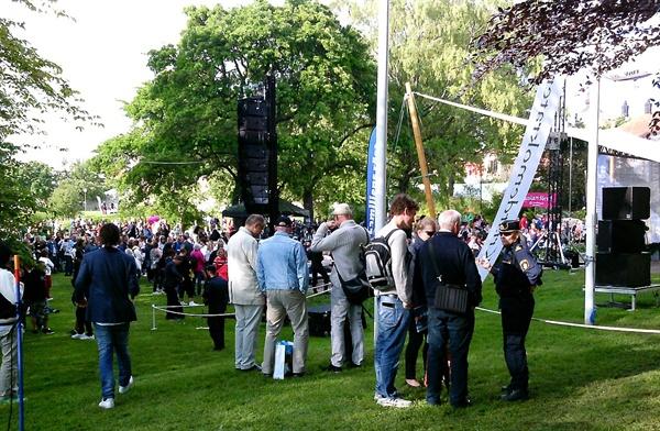 스웨덴에서는 1년에 한 번 알메달렌 정치박람회가 열린다. 사진은 2014년 현장 모습.