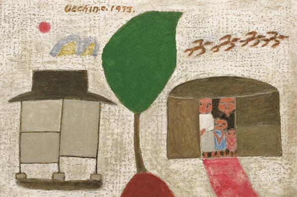 가족 (1973년 작) (사진은 장욱진미술문화재단에서 제공받은 자료입니다. 저작권자의 허락없는 무단 사용을 금합니다.)