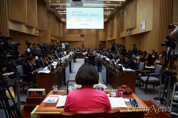 국토위 서울시 국감 국회 국토교통위원회의 서울시 국정감사가 22일 오전 서울시청에서 열리고 있다.