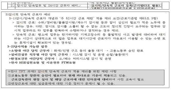 조선업 D사의 내부자료