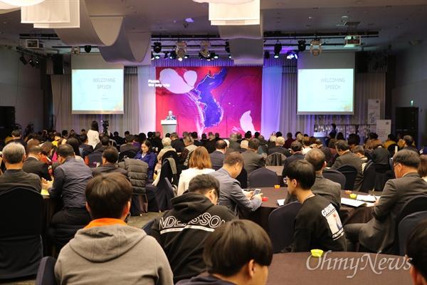 30일 오전 인천 하버파크호텔에서 열린 2018세계평화대회에는 한국YMCA와 18개국 24명의 평화활동가 등 250여 명이 참석했다.