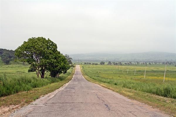 드넓은 연해주 벌판  한때는 이곳에 마을도 있고 학교도 있고 20여만의 사람들이 북적이던 한인 마을 이었을 것이다. 1937년 소련 정부의 고려인 중앙아시아로 강제 이주된 이후 지금은 흔적도 없는 폐허로 남아있다.