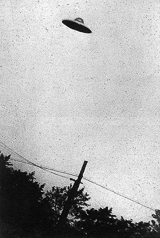 한국전쟁 때인 1952년 7월 31일 미국 뉴저지주에서 촬영된 미확인 비행물체.