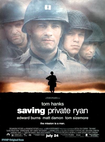 제2차 세계대전 영화의 교과서, <라이언 일병 구하기> 포스터.