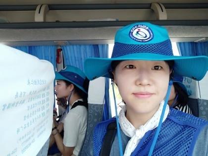 선혜란  온양여자고등학교 역사교사. 이번 인문학 기행단 인솔교사로 참여했다.