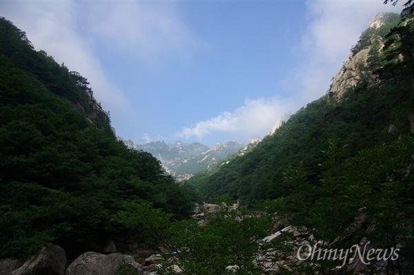 외금강 계곡(2007년 촬영분).