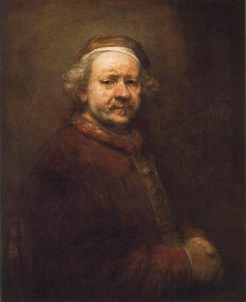자화상(렘브란트,1669,런던 내셔널 갤러리)