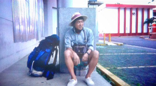 니카라과 히노테페 중앙 공원 은행 주차장에서 노숙을 하고 일어난 새벽.