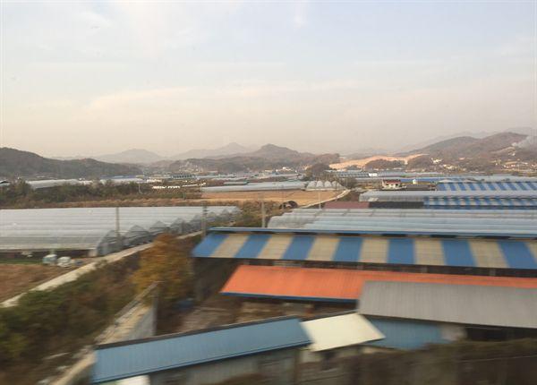 대전역 주변 미세먼지 모습