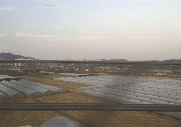 김천역사 주변 미세먼지 모습