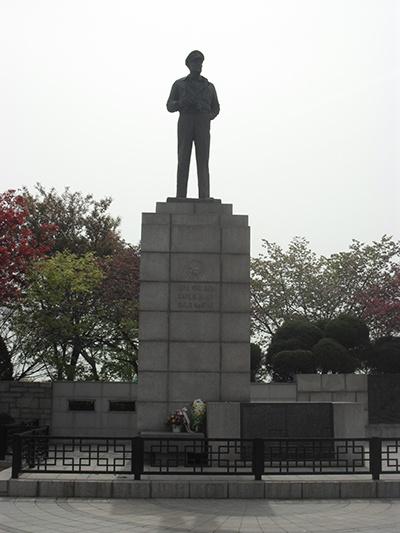 인천시 중구 송학동 자유공원에서 찍은 맥아더 동상.