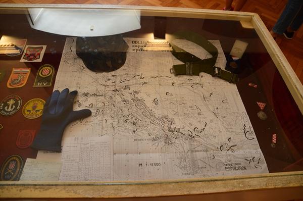 두브로브니크 방어 지도. 자유를 지키려 했던 두브로브니크의 역사가 펼쳐진다.