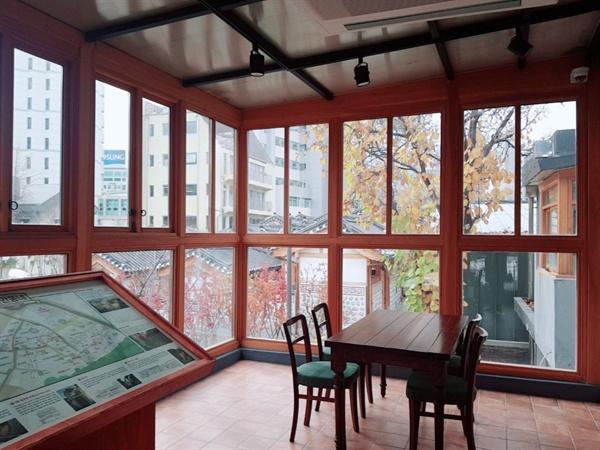 돈의문 전시관 2층 내부 모습이다.