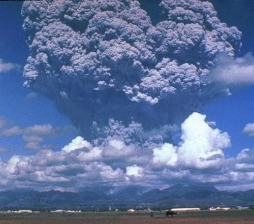 화산폭발.