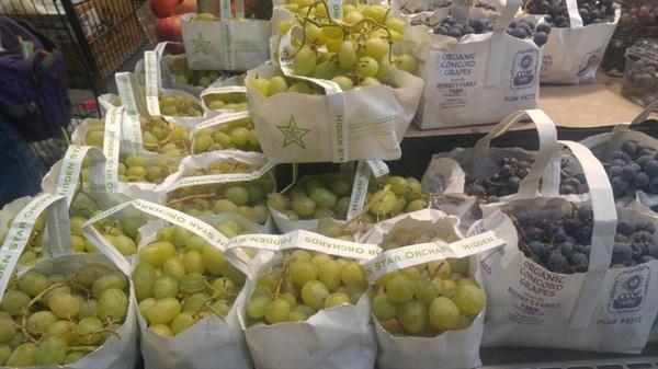 종이봉지에 담긴 과일