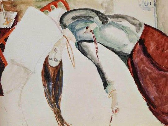 자살(잔 에뷔테른, 1920, 개인소장)