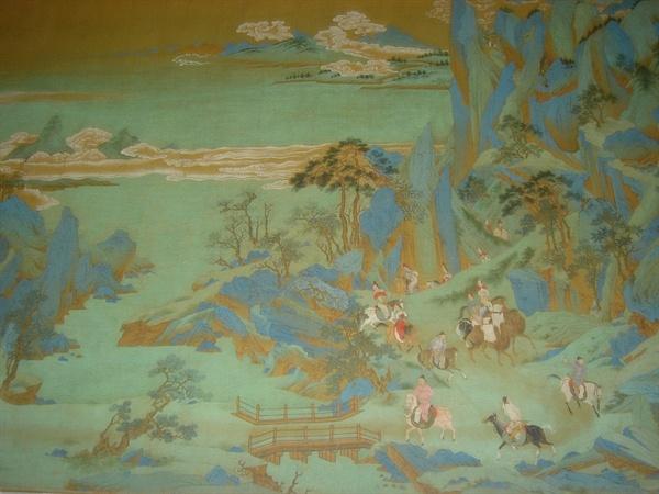 안녹산의 난을 피해 쓰촨으로 도망가는 현종