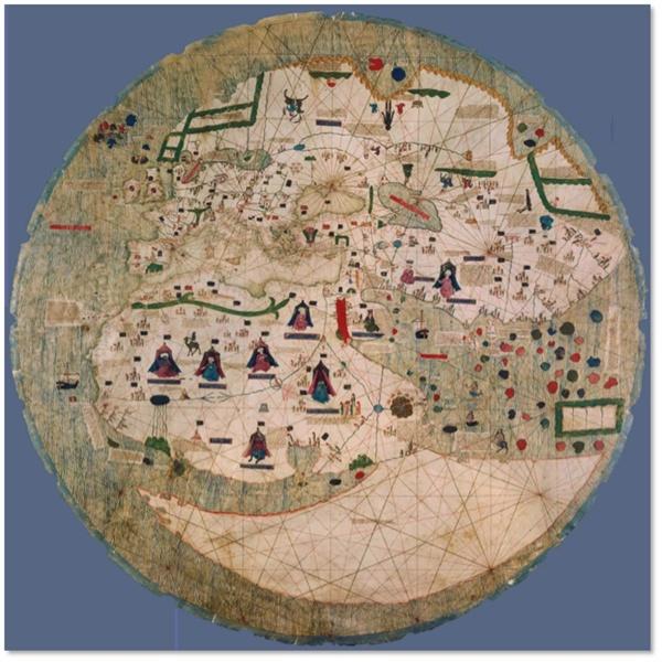 Catalan-Estense World Map 1450-1460 경 제작